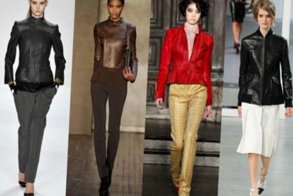 С чем носить кожаную куртку короткую - модные луки 2020