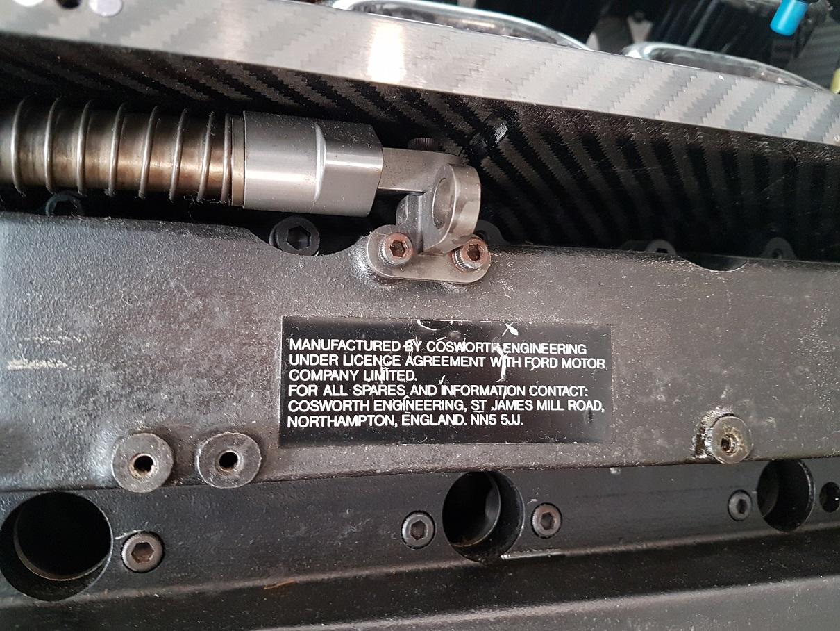 Cosworth EC Engine Plaque