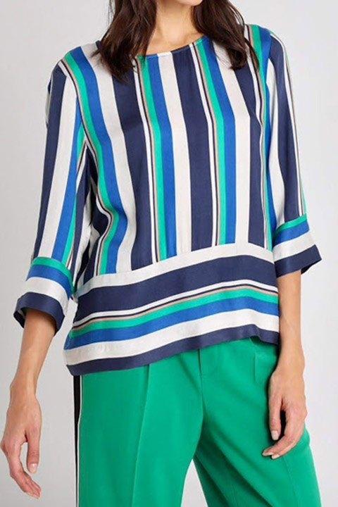Freequent. Blusa de rayas multicolores.