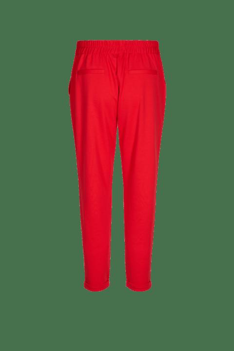 Freequent. Pantalón de punto en color rojo, con goma en la parte de atrás.