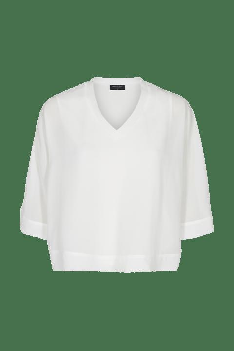 FREE|QUENT. Blusa de escote en pico en punto, con manga Kimono y corte holgado.