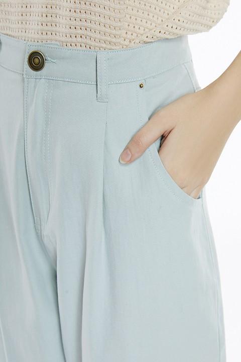 Detalle de los bolsillos laterales. Meisïe.
