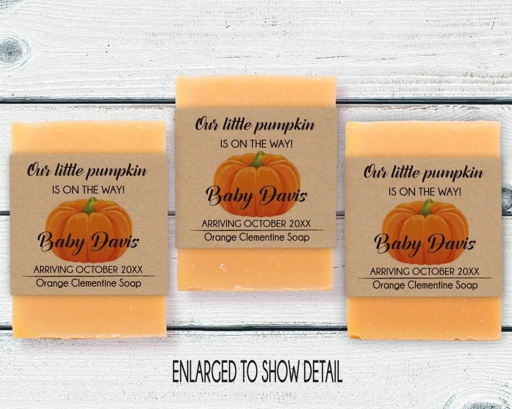 pumpkin baby shower favor party favors,baby boy shower favor Baby boy shower favors soap favor a little pumpkin baby shower
