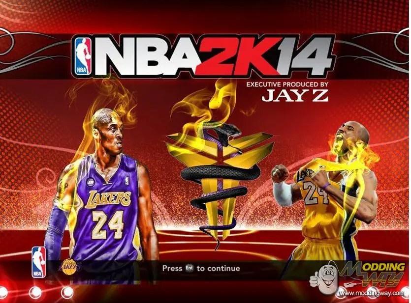 NBA 2K13 Kobe Bryant Startup Screen With BLACK MAMBA LOGO