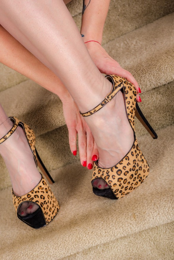 animal print schuhe highheels