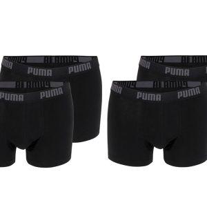 4-pack zwarte boxershorts Puma-L