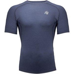 Bodybuilding T-Shirt Mannen Marine Blauw - Gorilla Wear Lewis
