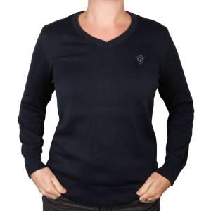 Q1905 Dames Pullover V-neck Maywood Deep Navy