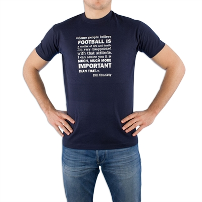 Spielraum - Bill Shankly Liverpool FC T-shirt - Navy