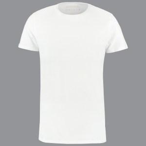 ShirtsofCotton Wit Basic Round Heren T-shirt 6-Pack