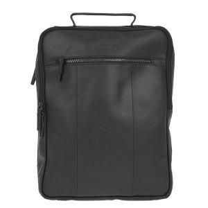 """DSTRCT Riverside Laptop Backpack A4 15.6"""" Black"""