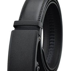 Mens Business Second Layer Of Leather Belt Casual Kraft Automatic Buckle Waistband