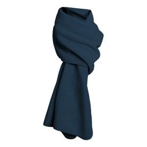 Warme fleece sjaals navy blauw