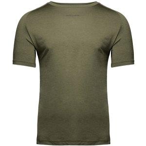 Bodybuilding T-Shirt Mannen Legergroen - Gorilla Wear Taos