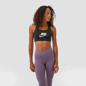 Nike Nike dri-fit swoosh club futura sportbh zwart/wit dames dames