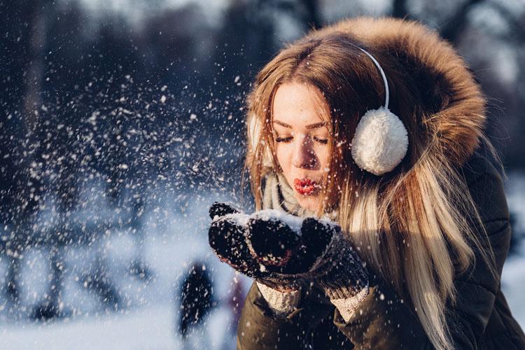 Felljacke Schnee Frau