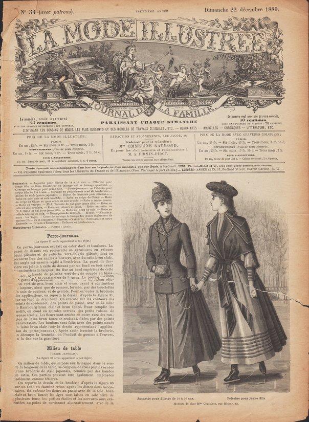 mode illustrée 1889