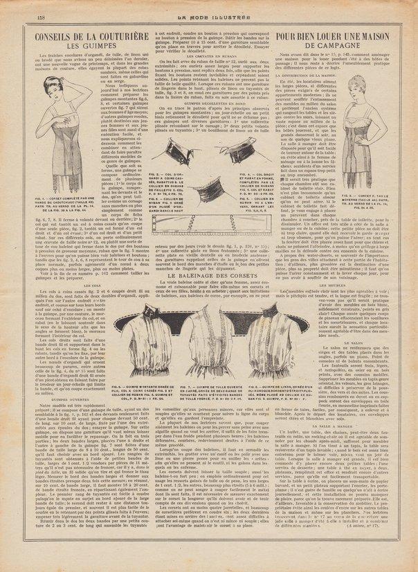 patron de corset en 1920