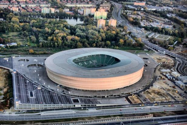 Stadion Miejski we Wrocławiu.