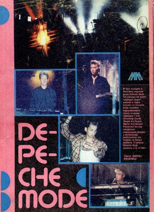 Magazyn Muzyczny, okładka (1985)