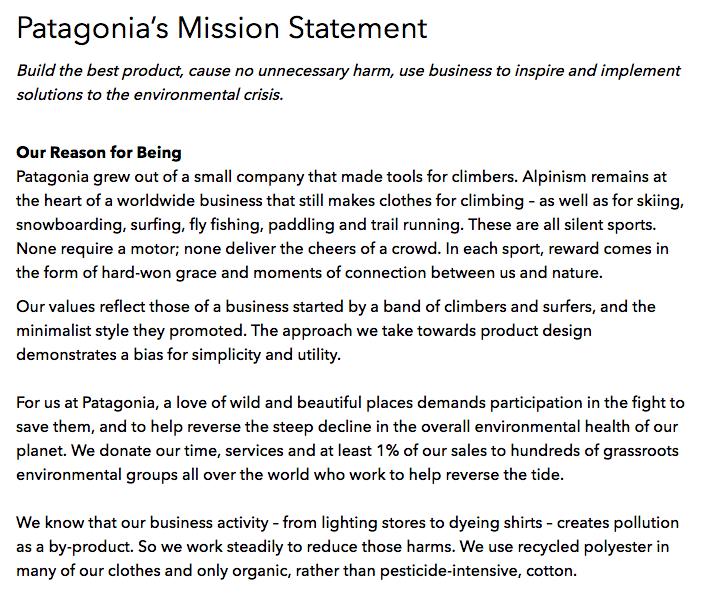 patagonia mission