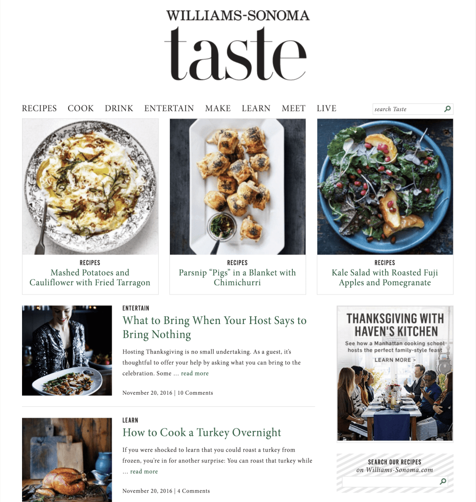 Williams-Sonoma Blog