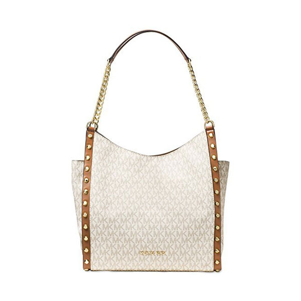 52d669f4123b Michael Kors – Newbury Medium Chain Shoulder Tote Bag, Vanilla Stud ...