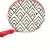 Fossil - Keely Zip Around Coin Purse - White, Black, & Red