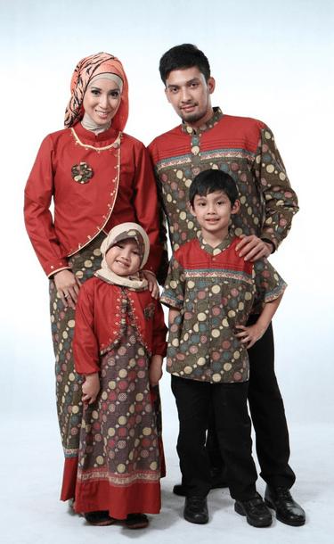 model baju batik kombinasi brokat seragam Kerja