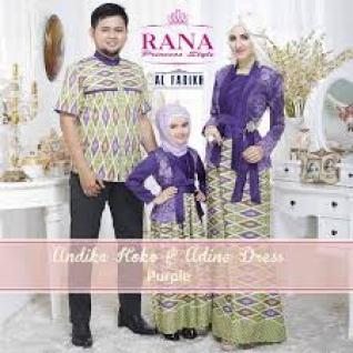 Desain Busana Batik Sarimbit Keluarga Plus Anak Terbaru