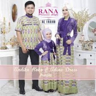 Model Baju Muslim Batik Sarimbit Keluarga Terbaru