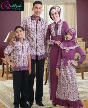 Baju Batik Muslim Seragam Keluarga untuk Lebaran