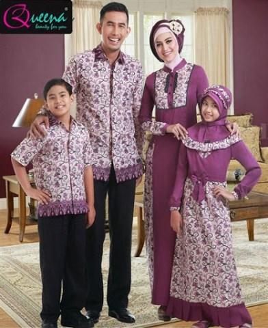 Model Baju Batik Mamah Papah dan Anak Terbaru