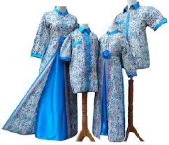 baju batik mama papa dan anak