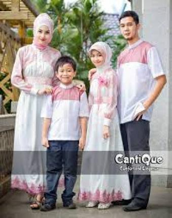 Contoh Model Baju muslim Batik Seragam keluarga Terbaru