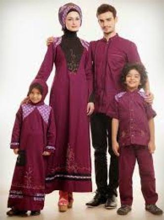 Model Baju Gamis Seragam Keluarga Terbaru