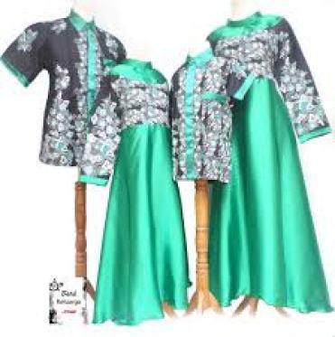 Contoh baju batik Seragam Keluarga Modern terbaru