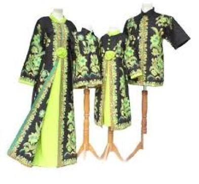 model baju batik Couple Keluarga Suami, istri dan anak terbaru