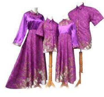 model baju Batik keluarga untuk lebaran terbaru