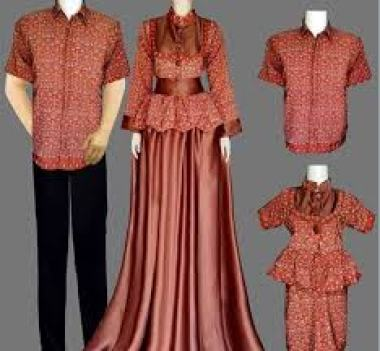 Model baju batik mama papa dan anak terbaru