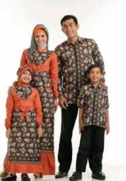 model baju seragam batik Keluarga kombinasi sifon