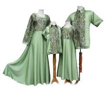 Model Baju Lebaran Couple Keluarga Plus 2 Anak Terbaru