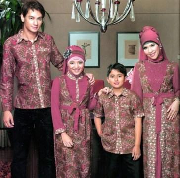 Model Baju Lebaran Keluarga Warna Putih Terbaru