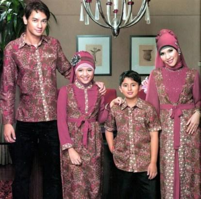 seragam batik kombinasi polos pria