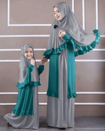 Model baju seragam ibuk dan anak perempuan