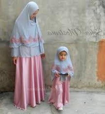 Baju muslim couple santai keluarga