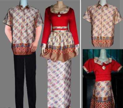 Contoh Pakaian Seragam Batik Keluarga untuk Pernikahan Terbaru