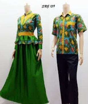 model baju pesta batik modifikasi