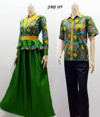 Model Baju batik Couple untuk Lebaran Modern Terbaru