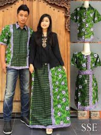 model atasan seragam batik kombinasi kain polos